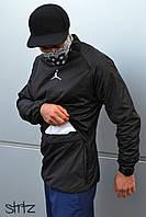 Спортивный, мужской анорак, ветровка, бомбер, олимпийка Jordan (хаки) XL(52)