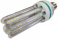Светодиодная лампа Е27 4U 16 Вт теплый белый (3200К), фото 1