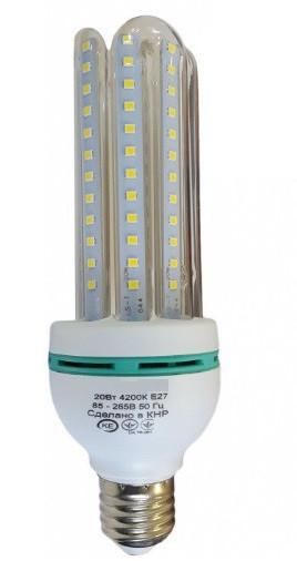 Светодиодная лампа Е27 3U 12 Вт теплый белый (3200К)