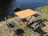 """Складная качественная мебель для пикника и отдыха """"Кемпинг F1+4"""" (стол + 4 стула)"""