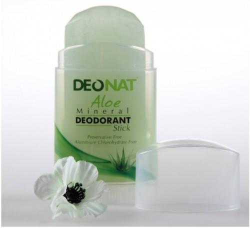Минеральный дезодорант-кристалл Deonat с экстрактом Алоэ 100g, фото 2