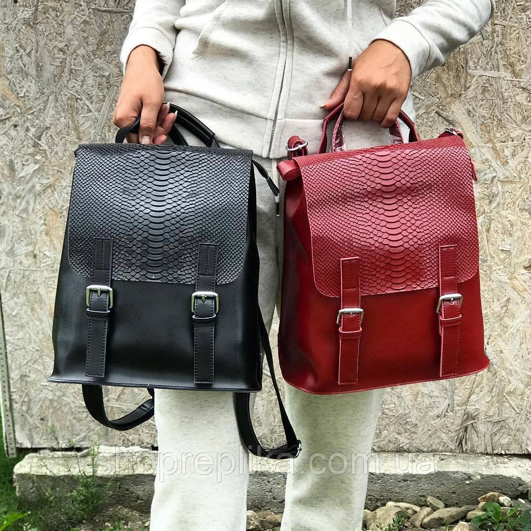 Кожаный рюкзак трансформер
