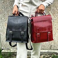 Кожаный рюкзак трансформер , фото 1