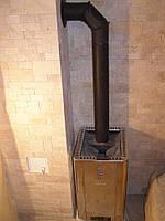 Монтаж металлических печек  для сауны и бани