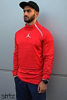 Спортивный, мужской анорак, ветровка, бомбер, олимпийка Jordan (красный)