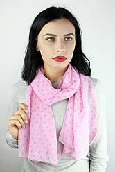 Шарф Меланья горошки розовый
