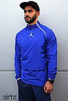 Спортивный, мужской анорак, ветровка, бомбер, олимпийка Jordan (синий)