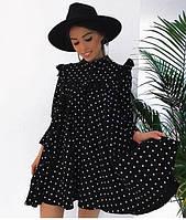 Платье женское короткое из вискозы свободного кроя P10432