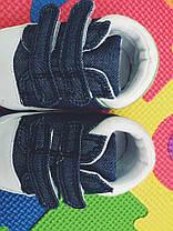 Кроссовки пинетки  детские из текстиля джинсовые 16 размер, фото 3