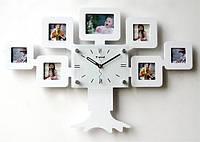 Часы настенные Родовое дерево на 7 фото белые