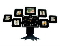 Часы настенные Родовое дерево на 7 фото черные