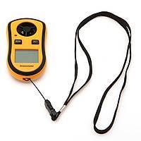 Цифровой анемометр gm8908, измеряет скорость ветра и температуру воздуха, выбор единицы измерения, жк-дисплей