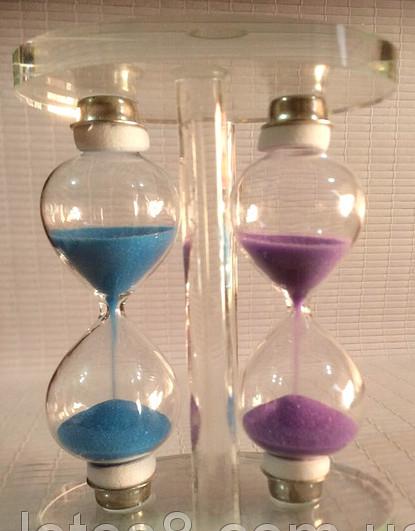 Песочные часы двойные стеклянные.