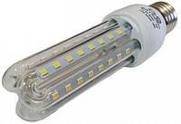 Светодиодная лампа Е27 3U 9 Вт теплый белый (3200К), фото 1