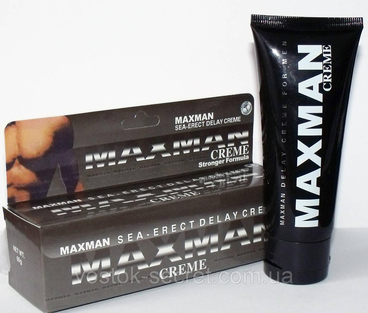 MaxMan Creme крем для продления полового акта, 60мг.