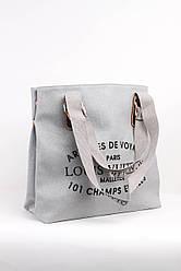 Шоппинг сумка Louis Vuitton с напылением серебро