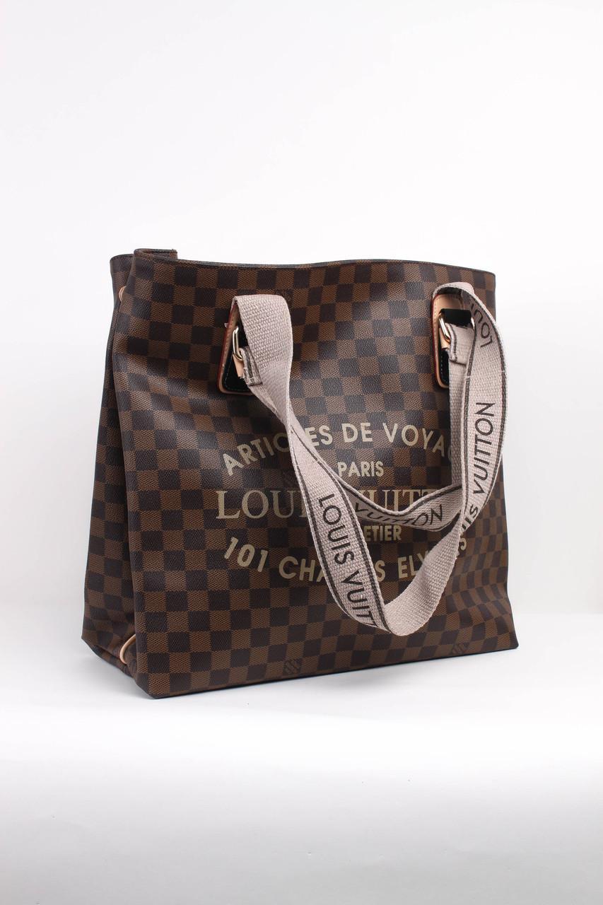 5727816919dc Шоппинг сумка Louis Vuitton коричневая - купить по лучшей цене в ...
