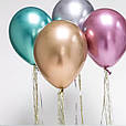 """Хром.Серебро (Silver) . Воздушный латексный шар 12"""" дюймов 28 - 30 см., фото 4"""