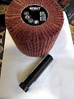 Круг шлифовальный лепестковый Sprut из нетканного  абразивного материала скотчбрайта 100х100х19 мм.  р80