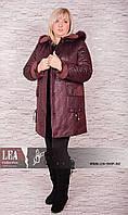 Женская зимняя дубленка больших размеров, вельбо  №34 БП