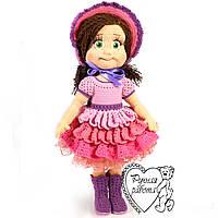В'язана лялька у рожевому вбранні, велика