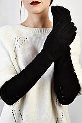 Женские перчатки замшевые Капрезе черные размер 6,5