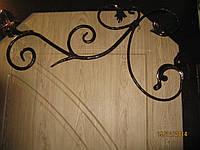 Входная металлическая дверь с элементами ковки и накладкой МДФ