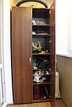 Шкаф-18 с полками и вешалками для спальни или прихожей, фото 6