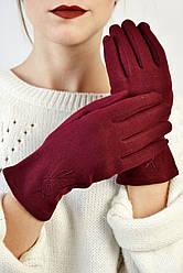 Женские перчатки трикотажные Макарон марсала размер 8