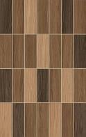 25х40 Керамическая плитка Карелия Мозаик коричневый кухня фартук