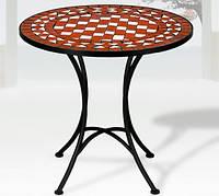 Круглий столик садовий з мозайкою 60см, фото 1