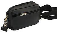 Мужская кожаная сумка на ремень Pawelek ss-18 11-153