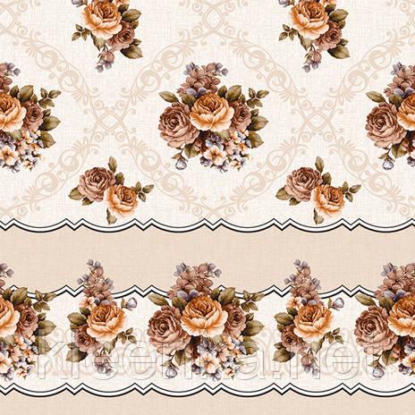 Скатерть-клеёнка рулонная на флизелиновой основе на стол и стену
