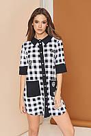 Платье-рубашка с накладными карманами, фото 1