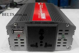 Автоинвертор Power Inverter ELITE lux 12/220v 300 W, преобразователь, инвертор для автомобиля Павер Инвертер Е