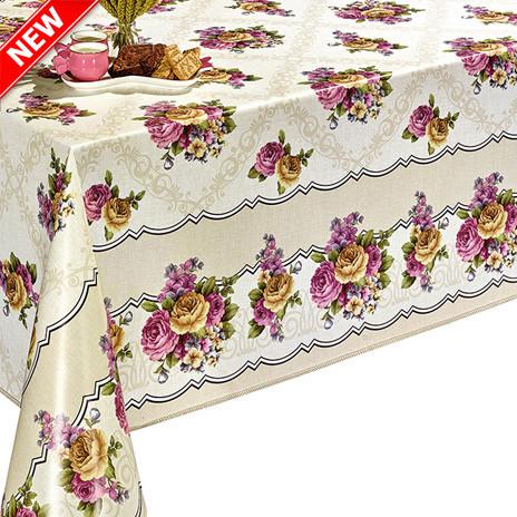 Скатерть на стол Dekorama с цветочным принтом