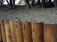 Продажа деревянных свай для укрепления берега