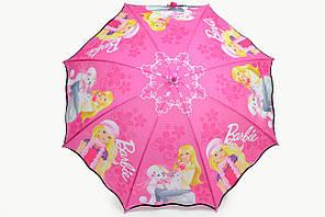 Зонт детский барби розовый