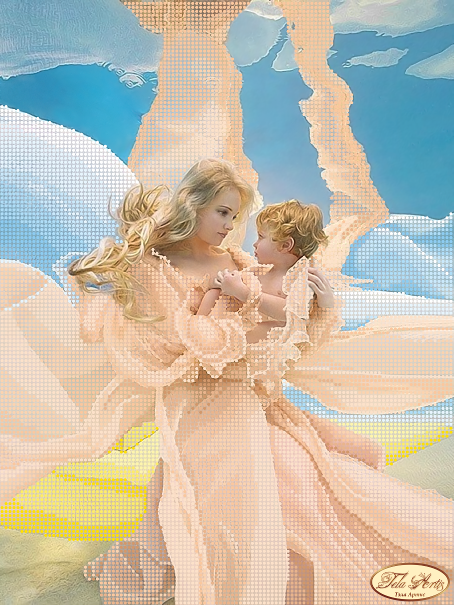 Мать и дитя вышивка бисером
