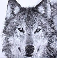 Декупажная салфетка Волк 4047