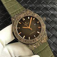 Часы Hublot Classic Fusion Fuente King Gold LE Green 45mm. Реплика класс: VIP