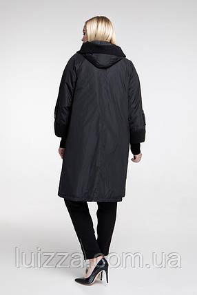 Плащ женский с накладными карманами 54 - 68 р бордо, фото 2