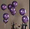 """Хром.Фиолетовый (Purple) . Воздушный латексный шар 12"""" дюймов 28 - 30 см., фото 3"""