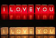 Набор Светокубиков Я люблю тебя 8 шт