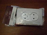 Розетка РС 16-343е двойная Уют без заземления внутренней установки  BYLECTRICA 616655f0ca6