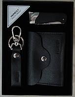 Подарочный набор зажигалка-нож/брелок/портмоне №3054
