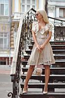 Платье женское короткое из штапеля на запах P10447, фото 1