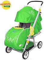 Чудесная складная коляска-санки «зима-лето» от популярного бреда ника – активные прогулки круглый год !