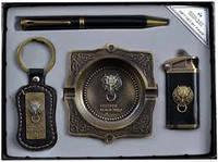 Подарочный набор зажигалка.ручка.брелок.пепельница YJ6361