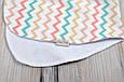 Полотенце для гигиены новорожденного, Цветной зигзаг, фото 4